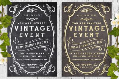 Vintage Chalk and Foil Flyer Bundle