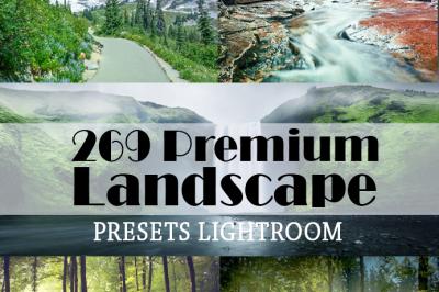 269 Premium Landscape Lightroom Presets (Presets for Lightroom 5,6,CC)