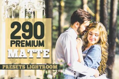 290 Premium Matte Preset Lightroom Presets (Presets for Lightroom 5,6,CC)