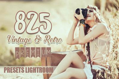 825 Premium Vintage & Retro Presets Lightroom