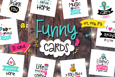 30 Funny Lettering Cards Collection!