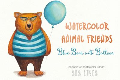 Teddy Bear Watercolor Clipart