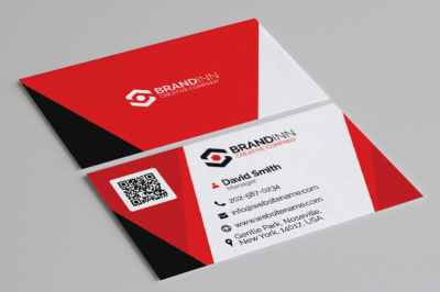 Creative Corporate Red Business Card 10