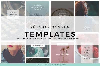 20 Blog Banner Templates