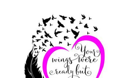 Your Wings Were Ready Svg, Dxf, Png, Eps Cutting File
