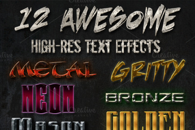 12 Awesome Text Effects Grunge Metal
