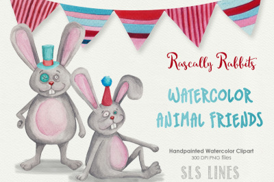Bunny Rabbits Celebration Graphics