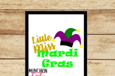 Little Miss Mardi Gras Cutting Design