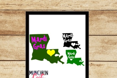 Louisiana Mardi Gras Cutting Designs
