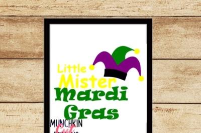 Little Mister Mardi Gras Cutting Design