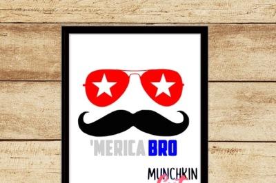 Merica Bro Cutting Designs