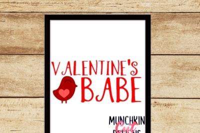 Valentine's Babe Cutting Designs