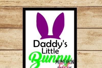 Daddy's Little Bunny Cutting Designs