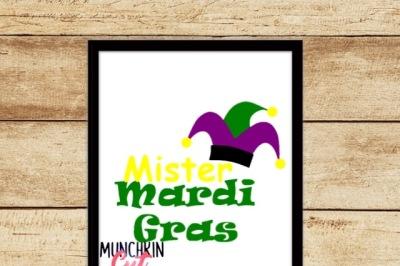 Mister Mardi Gras Cutting Design