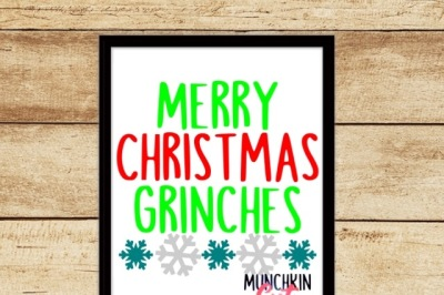 Merry Christmas Grinches Cutting Design