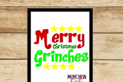 Merry Christmas Grinches Cutting Designs