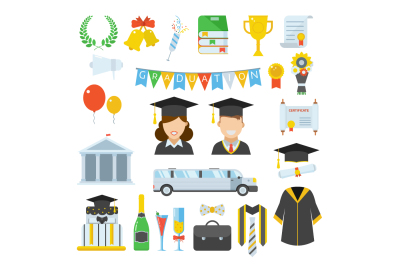 Graduation Day Elements Set