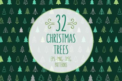 32 Christmas Trees