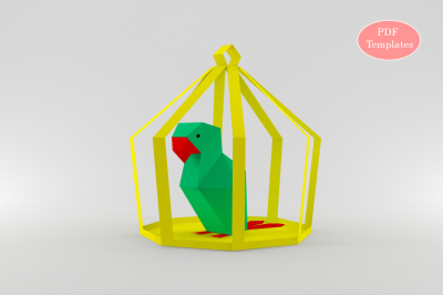 DIY Parrot in Cage (Printable)