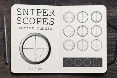Sniper Scopes Vector Set #1