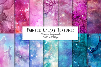 Painted Galaxy Digital Paper