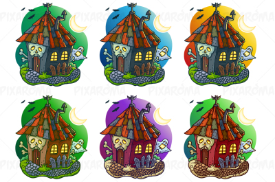 Haunted House Cartoon Vector Illustration