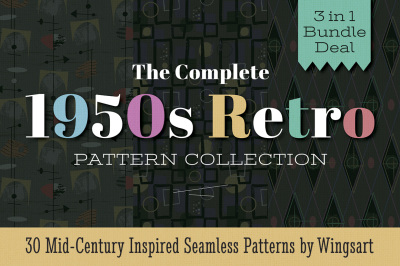 The Complete 1950s Retro Pattern Collection