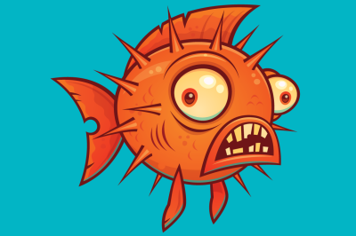 Cartoon Pufferfish