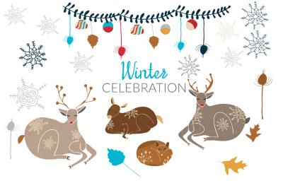 Winter Holiday Illustrations