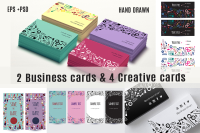 Business cards Makeup Creative