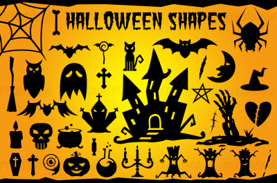 Halloween Vector Shapes Set