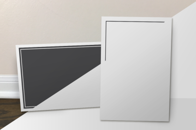 Postcard Mockups: Front View