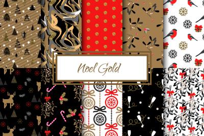 Noel Gold seamless paper