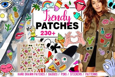 Trendy Patches big set + 12 patterns