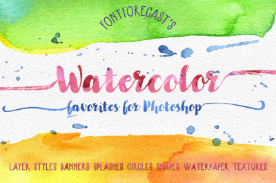 Fontforecast's Watercolor Favorites