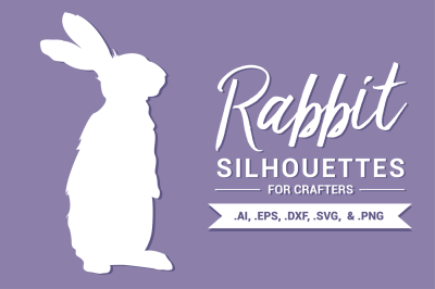Rabbit Silhouettes for Crafters