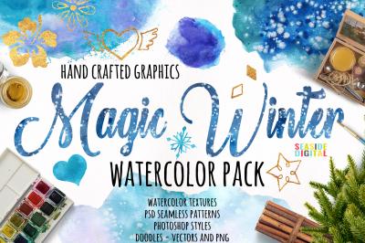 Magic Winter Watercolor Pack