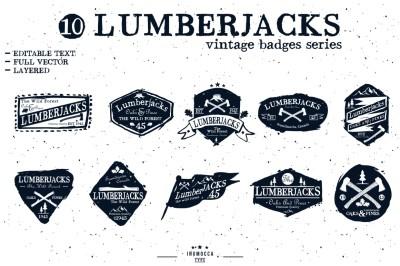 LumberJack badge (EDITABLE TEXT)