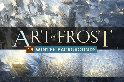 Art of Frost - 15 Winter Ice Backgrounds