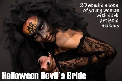 Scary Halloween Bride Fashion Model