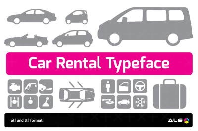 Car Rental Typeface