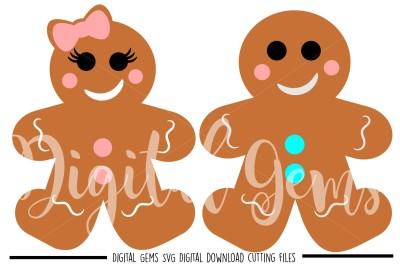 Gingerbread people SVG / DXF / EPS / PNG Fines
