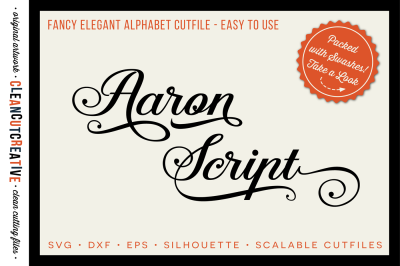 Fancy Elegant Cutfile Alphabet packed with Swashes! – SVG DXF EPS – Silhouette & Cricut – clean cutting files