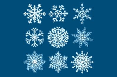 Christmas Snowflakes Vector Set