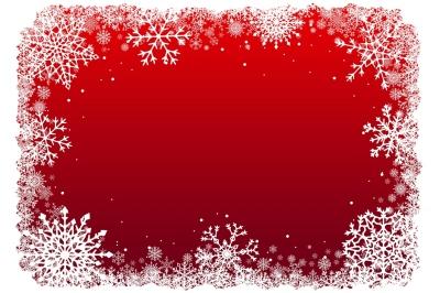 Christmas snowflakes frame. Vector.
