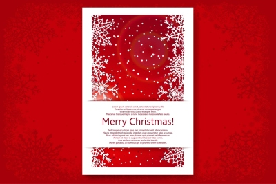 Christmas Backgrounds Vector Set.