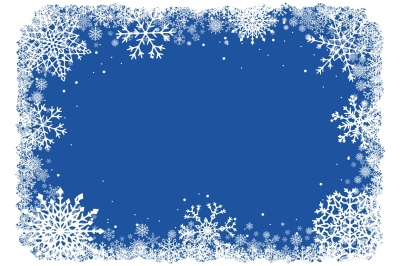 Vector Christmas Snowflakes Frame