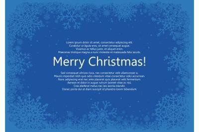 Vector set of blue Christmas frames
