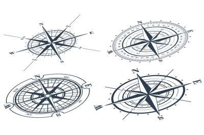 Compass Rose Huge Vector Set