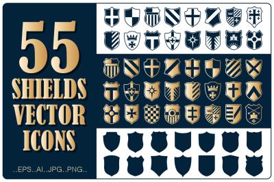 Shields Logo Vector Set
